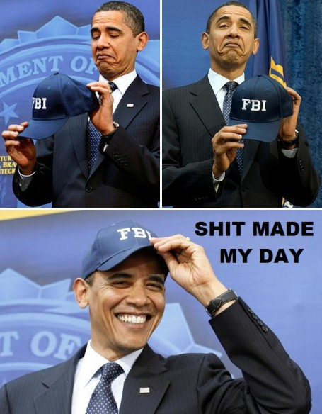 Shit Made My Day Obama FBI Hat
