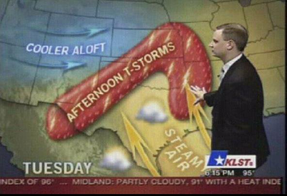 Weather Man Storm Looks Like Penis