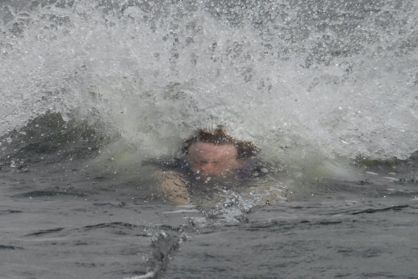 last summer i tried waterskiing