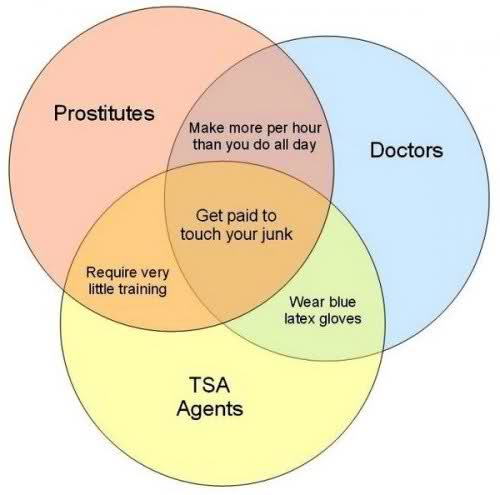 Prostitutes Doctors and TSA Agents Venn Diagram